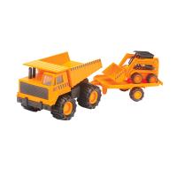 Soma 79138 Строительная техника Карьерный грузовик + минипогрузчик Бобкэт 18 см